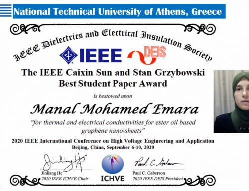 Manal M. Emara receives the IEEE Caixin Sun and Stan Grzybowski Best Student Paper Award